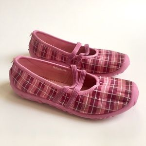 Girl pink shoes, moccasins